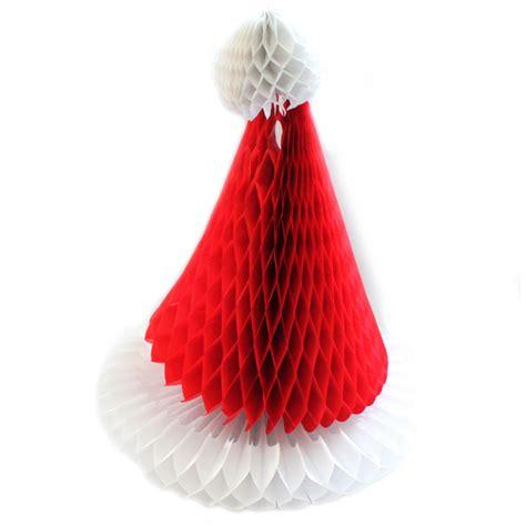 How To Make A Paper Santa Hat - wholesale retro honeycomb decorations big value