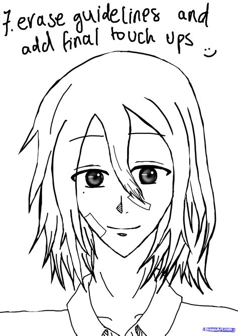 H Drawing by Anime Drawings For Beginners Step By Step Djanup