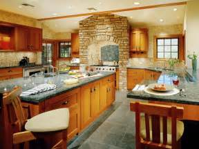 Country Style Open Floor House Plans u shaped kitchens hgtv