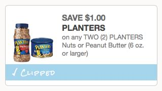 Planter Peanuts Coupons by New 1 2 Planters Nuts Or Peanut Butter Coupon Great