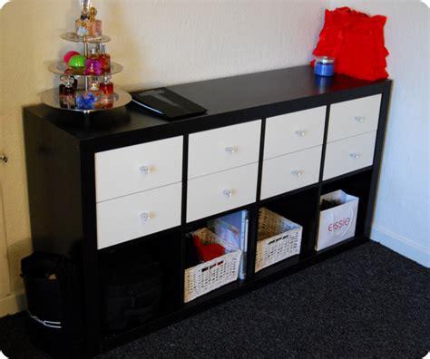 kallax drawer insert hack ikea expedit makeup storage black brown with matte white