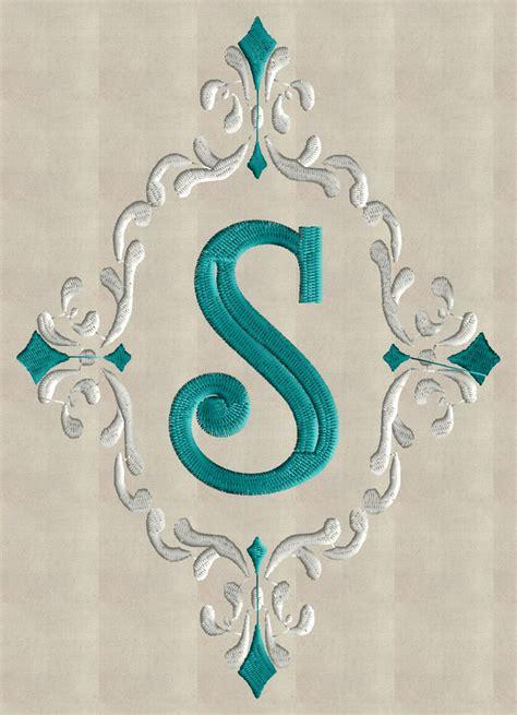 embroidery design monogram font frame monogram embroidery design font not included