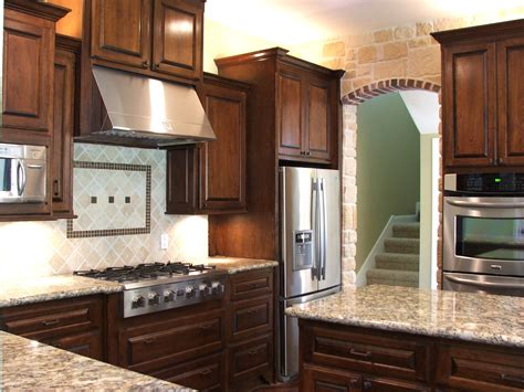 cherry kitchen cabinets with granite countertops cherry kitchen cabinets for more beautiful workspace