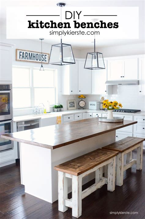 diy kitchen island with seating plans diy kitchen benches simply kierste design co