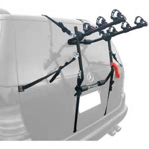 tyger deluxe trunk mount 3 bike carrier rack for sedan