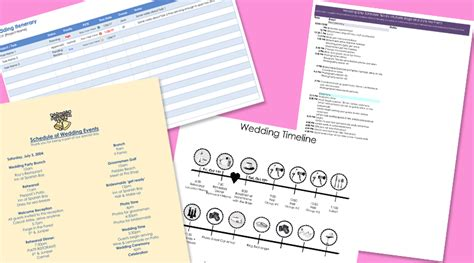 8 Free Wedding Itinerary Templates And Schedule Templates For Big Day Wedding Itinerary Template Free