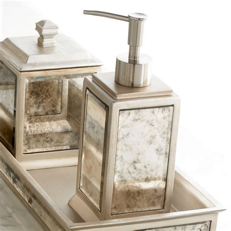 Palazzo Antique Mirrored Bath Accessories Mirrored Bathroom Accessories Sets