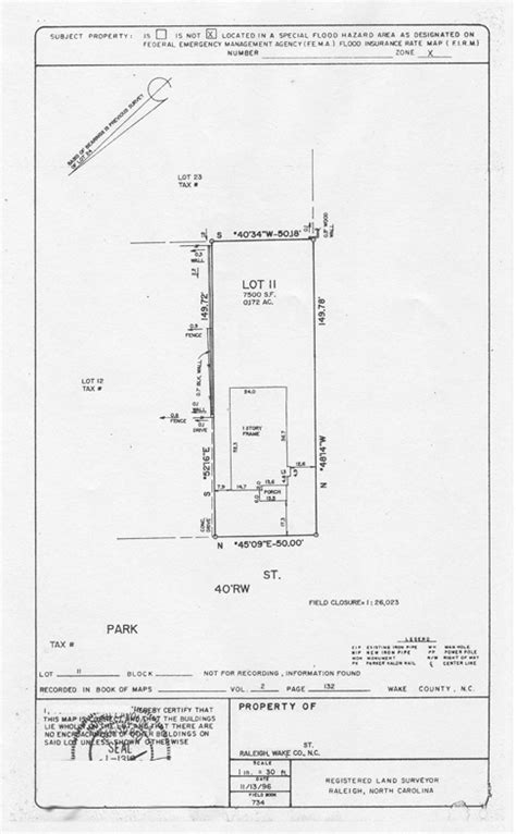 plot plan drawing step two map existing site and vegetation
