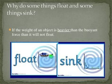 Why Things Sink by Forces And Fluids Power Point Note Sinks And Power Points