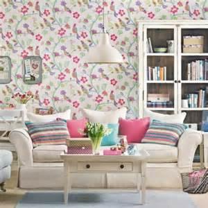 Living Room Flower Wallpaper Living Room Wallpaper Ideas How You Living Room Walls