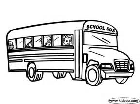 color of school buses school coloring page