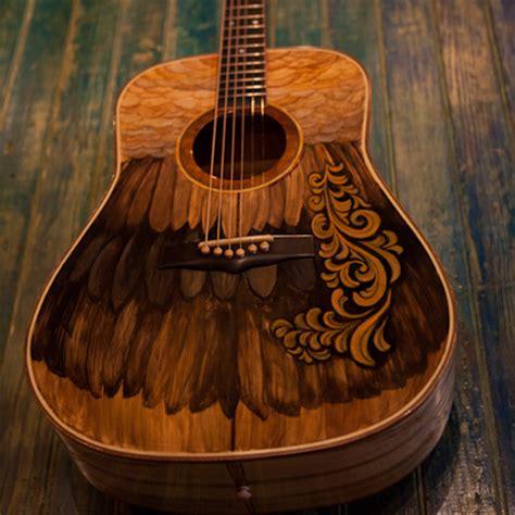 Custom Wooden Painting custom guitar painting mafiamedia