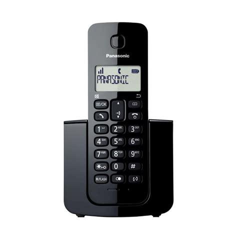 Panasonic Kx Tg3411 Telephone Wireless Hitam jual panasonic cordless phone kx tgb110 wireless telephone hitam harga kualitas