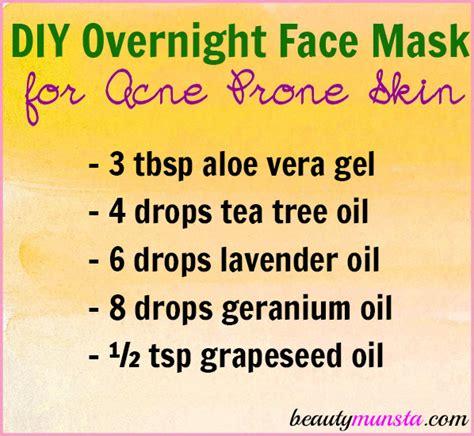 diy overnight mask diy overnight mask for acne prone skin beautymunsta