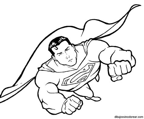 imagenes para colorear niños heroes dibujos de superman para colorear
