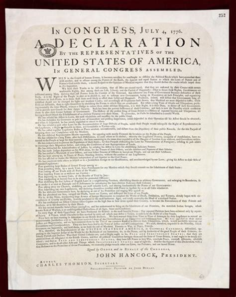 printable declaration of independence london rare original copy of declaration of independence