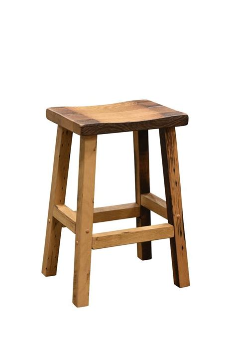 Reclaimed Wood Bar Stool Amish Reclaimed Wood Bar Stools