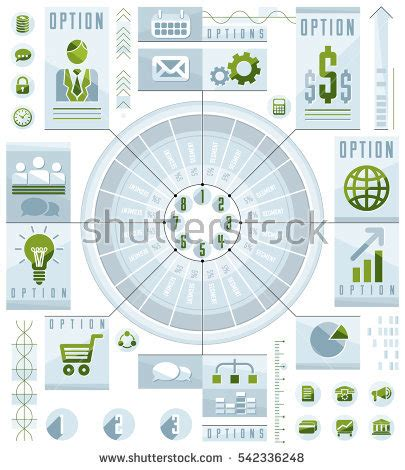 illustration layout composition creative infographics concept human eye looking stock