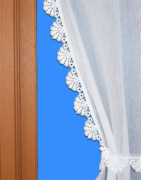 Macrame Lace Curtains Tie Back Lace Curtain With Voile And Macrame Lace