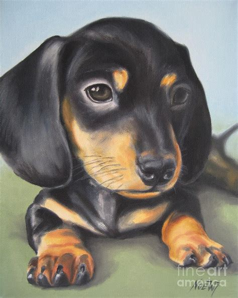 puppy painting dachshund puppy painting by jindra noewi