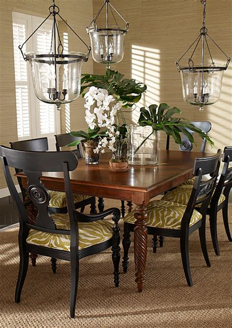 dining rooms tropical dining room   ethan allen