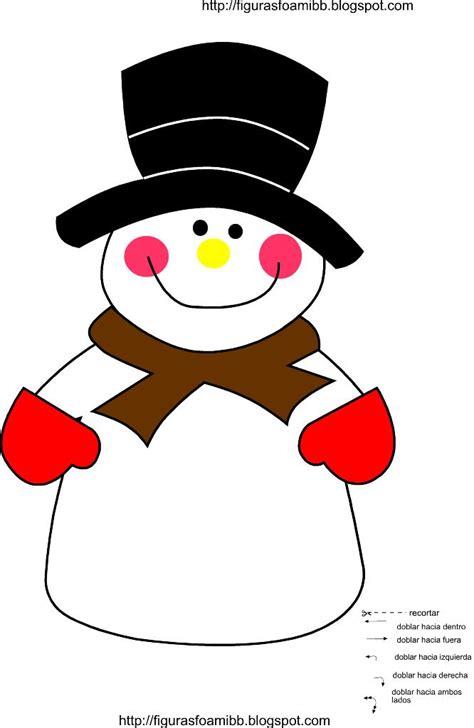muecos de navidad en foami figuras y moldes de foami molde mu 241 eco de nieve de