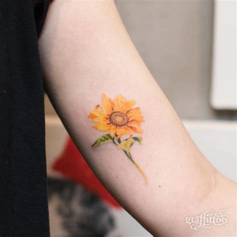 sunflower watercolor tattoo 105 sensational watercolor flower tattoos tattoomagz