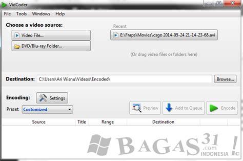 bagas31 rar password vidcoder cara mudah merubah ukuran video bagas31 com