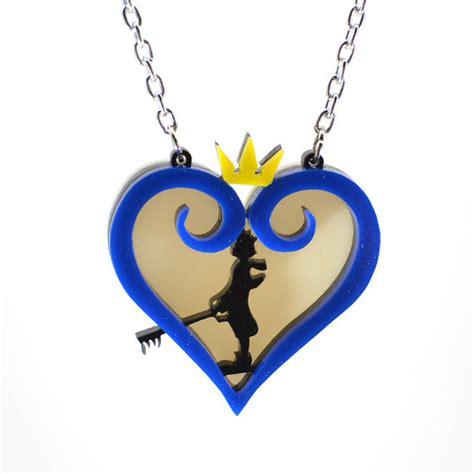 kingdom hearts sora silhouette necklace by nebuloushorizon
