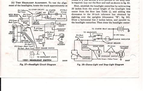 1951 ford headlight switch wiring diagram get free image