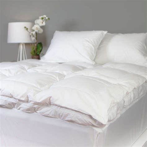 feather bed topper queen queen size mattress topper cotton down goose featherbed