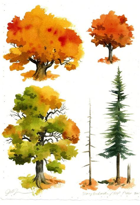 tutorial watercolor trees best 25 watercolor trees ideas on pinterest tree water