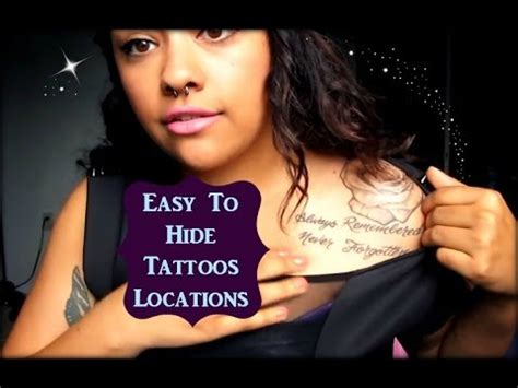 Tattoo Placement Easy To Hide | tattoo placements that are easy to hide youtube