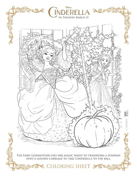cinderella 2015 coloring pages free new disney s cinderella coloring pages and activity sheets