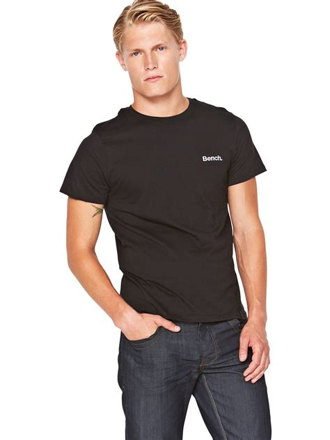 bench men s clothing bench bench mens logo tshirt in black for men lyst