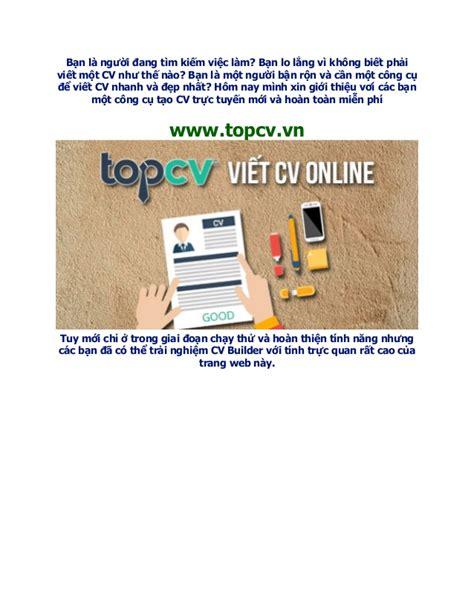 topcv vn c 244 ng cụ tạo cv trực tuyến gi 250 p bạn c 243 được cv