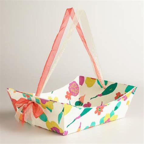 Handmade Paper Gifts - large floral louisa handmade paper gift basket world market