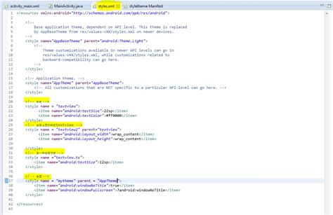 android themes xml vs styles xml android style and theme 样式和主题 kingshow 博客园