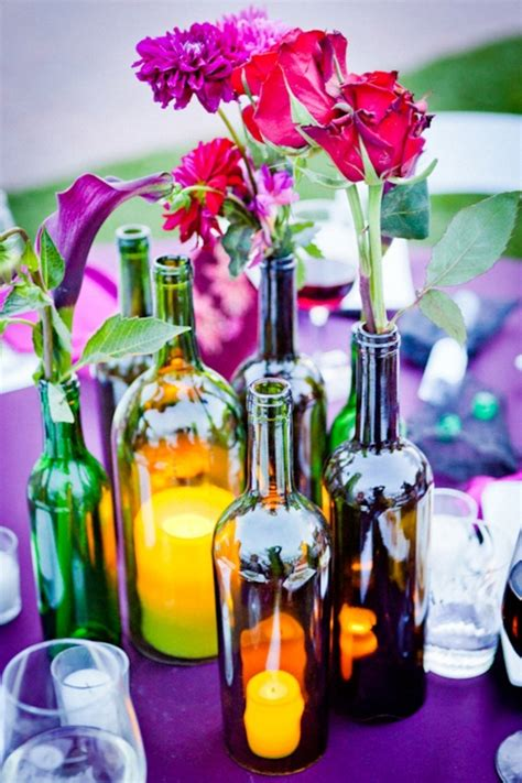 7 wine bottle centerpieces you can diy for your wedding day