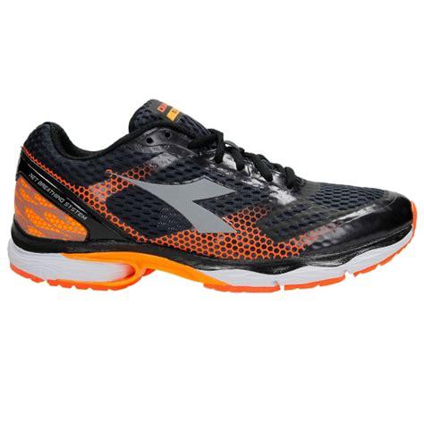 Diadora Running 4 diadora n 6100 4 s running shoes black fluo orange
