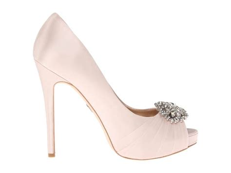 badgley mischka pettal light pink satin shoes post