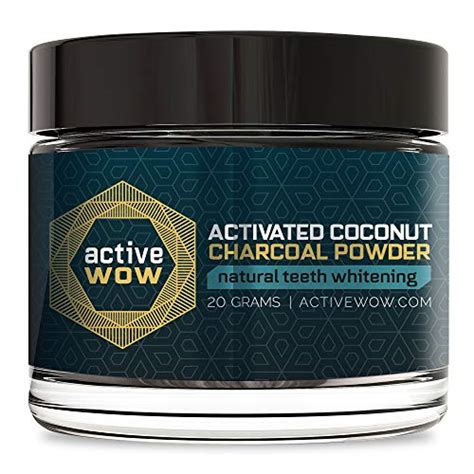 active wow teeth whitening charcoal powder natural manhox