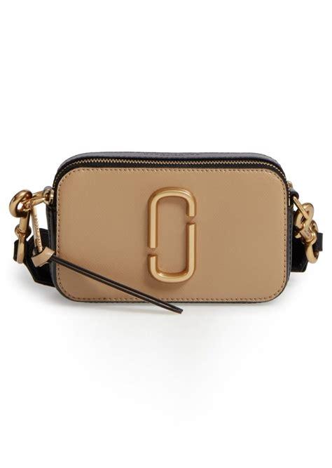 marc jacobs marc jacobs snapshot leather crossbody bag