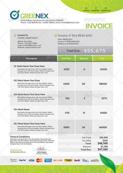 design for invoice bill 1000 images about invoice templates on pinterest