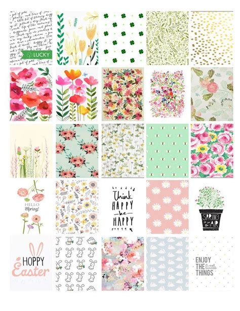 free printable easter planner stickers planner stickers spring google search planner stickers