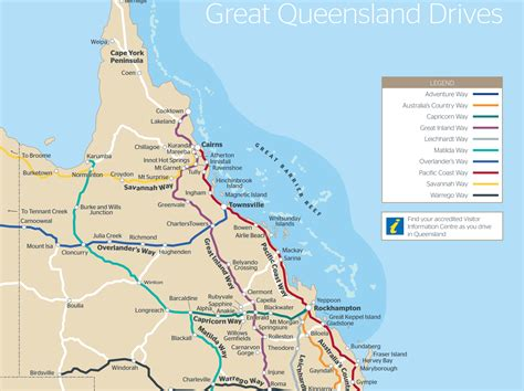 printable maps queensland queensland drive map outback queensland