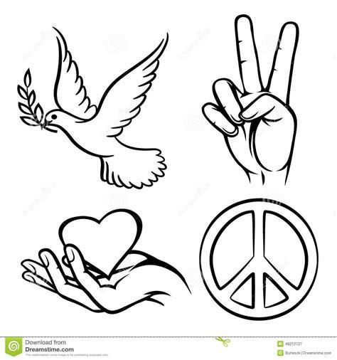 dibujos para todo dibujos de la paz s 237 mbolos de paz ilustraci 243 n del vector ilustraci 243 n de