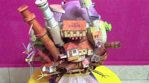 Howls Moving Castle Papercraft - howl s moving castle papercraft flying version