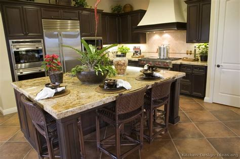 Dark Wood Kitchen Island by Pictures Of Kitchens Traditional Dark Wood Kitchens