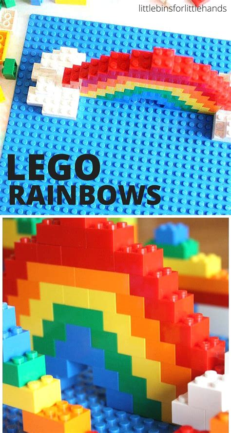 lego challenges for children lego rainbow build challenge for